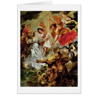 Reconciliación de Louis y de Maria de Peter Rubens Tarjeta De Felicitación