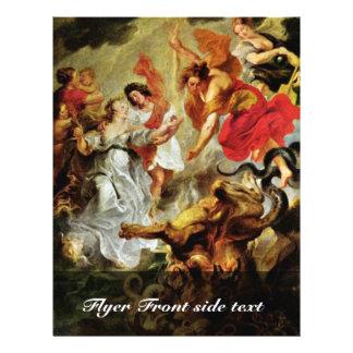 Reconciliación de Louis y de Maria de Rubens Peter Folleto 21,6 X 28 Cm