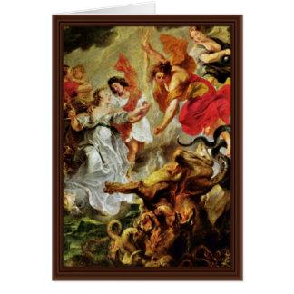 Reconciliación de Louis y de Maria de Rubens Peter Tarjeta De Felicitación