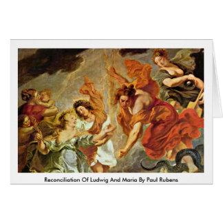 Reconciliación de Luis y de Maria de Paul Rubens Tarjetas