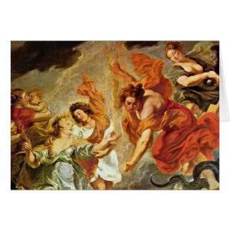 Reconciliación del detalle de Louis y de Maria de  Tarjeta De Felicitación