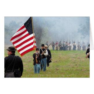 Reconstrucción de la guerra civil - muchacho de la tarjeta de felicitación