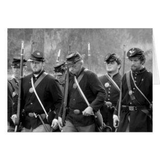 Reconstrucción de la guerra civil - soldados de la tarjeta