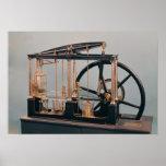 Reconstrucción del motor del vapor de James Watt Impresiones