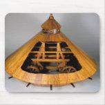 Reconstrucción modelo del diseño de da Vinci Alfombrilla De Ratón