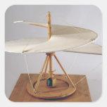 Reconstrucción modelo del diseño de da Vinci Calcomania Cuadradas