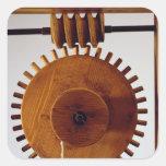 Reconstrucción modelo del diseño de da Vinci Calcomania Cuadrada Personalizada