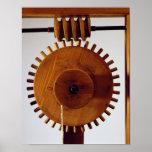 Reconstrucción modelo del diseño de da Vinci Póster