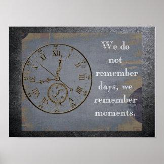 Recordamos momentos - cite sobre vida - impresión