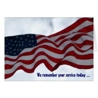 Recordamos su tarjeta del día de veteranos del