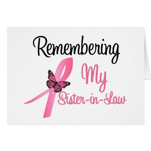 Recordando a mi cuñada - cáncer de pecho felicitación