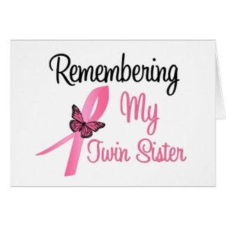 Recordando a mi hermana gemela - cáncer de pecho tarjetas