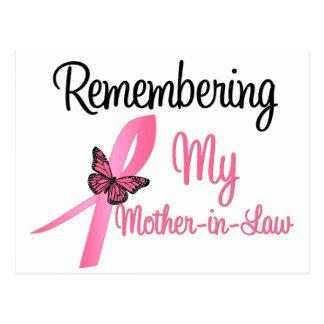 Recordando a mi suegra - cáncer de pecho postal