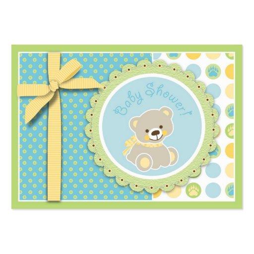 Recordatorio agradable Notecard del oso Tarjeta De Negocio