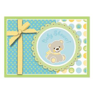 Recordatorio agradable Notecard del oso Tarjetas De Visita Grandes