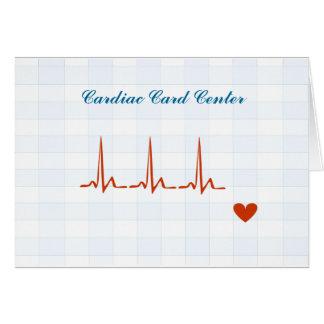 Recordatorio cardiaco de la cita del centro de la  tarjeta pequeña