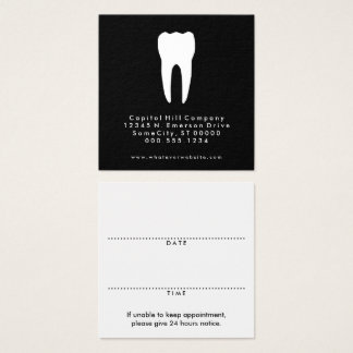 recordatorio cuadrado de la cita del dentista tarjeta de visita cuadrada