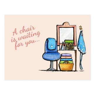 Recordatorio de la cita de la silla del Groomer de Tarjeta Postal