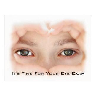Recordatorio de la cita del examen de la vista de