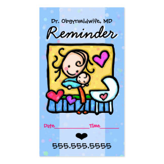 Recordatorio de plantilla de tarjeta personal