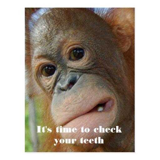 Recordatorio del paciente de la cita del dentista postal