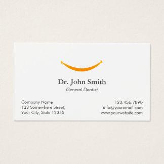 Recordatorio dental de la cita de la sonrisa tarjeta de visita