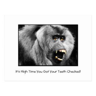 Recordatorio dental de la cita del chequeo de los  tarjetas postales