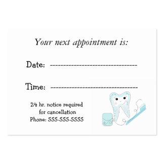 Recordatorio dental de la cita plantilla de tarjeta de negocio