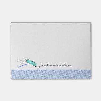 Recordatorio dental de la crema dental y del notas post-it®