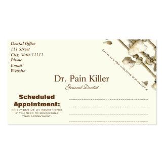 Recordatorio dental divertido de la cita del tarjetas de visita