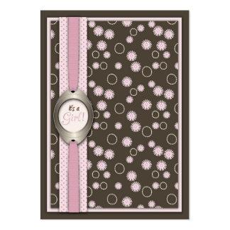 Recordatorio elegante Notecard de la niña Plantillas De Tarjetas Personales
