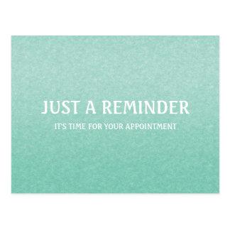Recordatorio elegante simple de la cita de la verd tarjeta postal