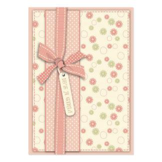 Recordatorio floral Notecard del chica bonito Tarjeta De Negocio