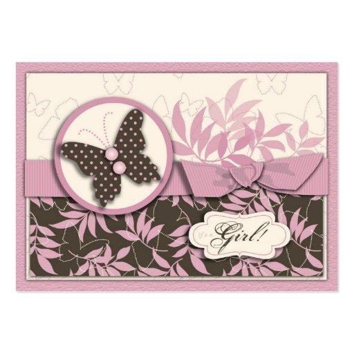 Recordatorio Notecard del bebé de la mariposa Tarjeta De Visita