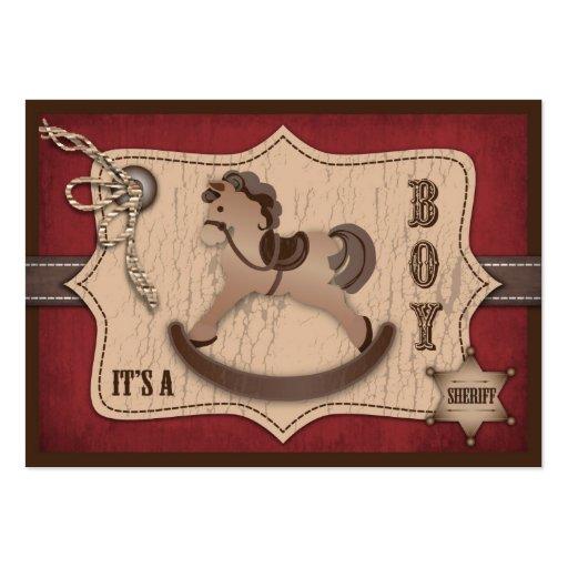 Recordatorio Notecard del bebé del vaquero Tarjeta De Visita