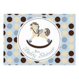 Recordatorio Notecard del muchacho del caballo mec Plantilla De Tarjeta De Visita