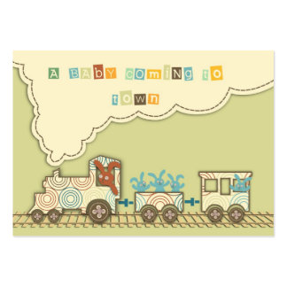 Recordatorio Notecard del tren de Choo Choo Tarjetas De Visita Grandes