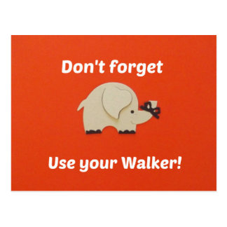 Recordatorio para utilizar al caminante postal