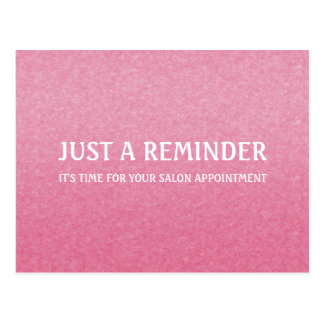 Recordatorio rosado elegante simple de la cita del postal