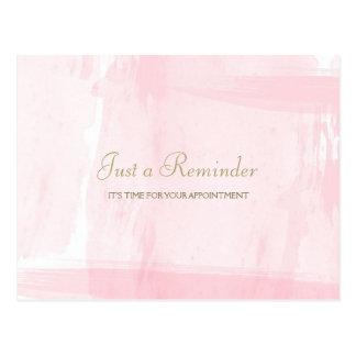 Recordatorio rosado simple de la cita de la postal