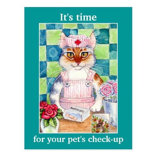 Recordatorio veterinario de la cita de la enfermer postal