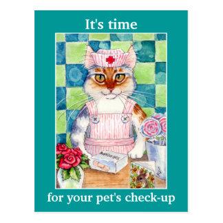 Recordatorio veterinario de la cita de la postal