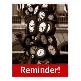 Recordatorio visual de la cita del tiempo de reloj