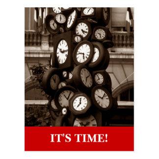 Recordatorio visual de la cita del tiempo de reloj tarjeta postal