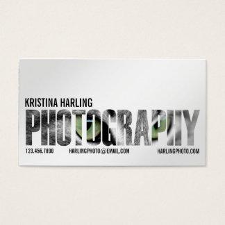 Recorte de la fotografía - blanco tarjeta de negocios