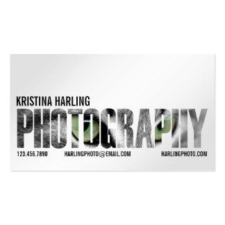 Recorte de la fotografía - blanco tarjeta de visita