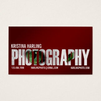 Recorte de la fotografía - rojo tarjeta de negocios