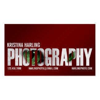 Recorte de la fotografía - rojo tarjetas de negocios