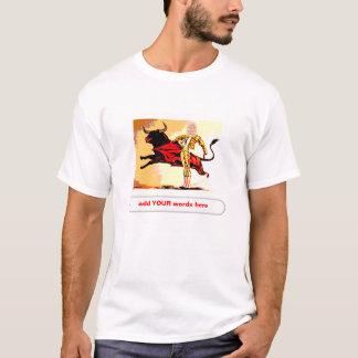 Recorte del carnaval del torero camiseta