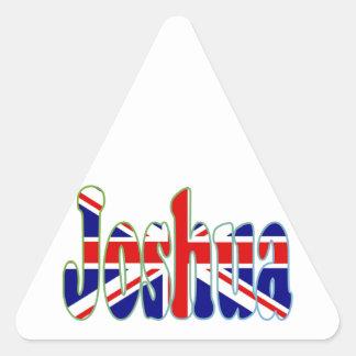 Recorte Joshua de Union Jack Pegatina Trianguladas Personalizadas